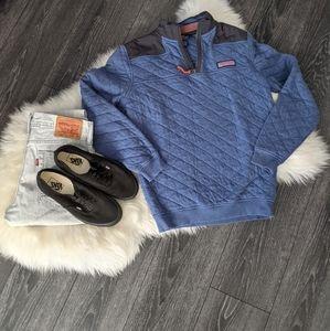 VINEYARD VINES - Quilted 1/4 Zip Pullover